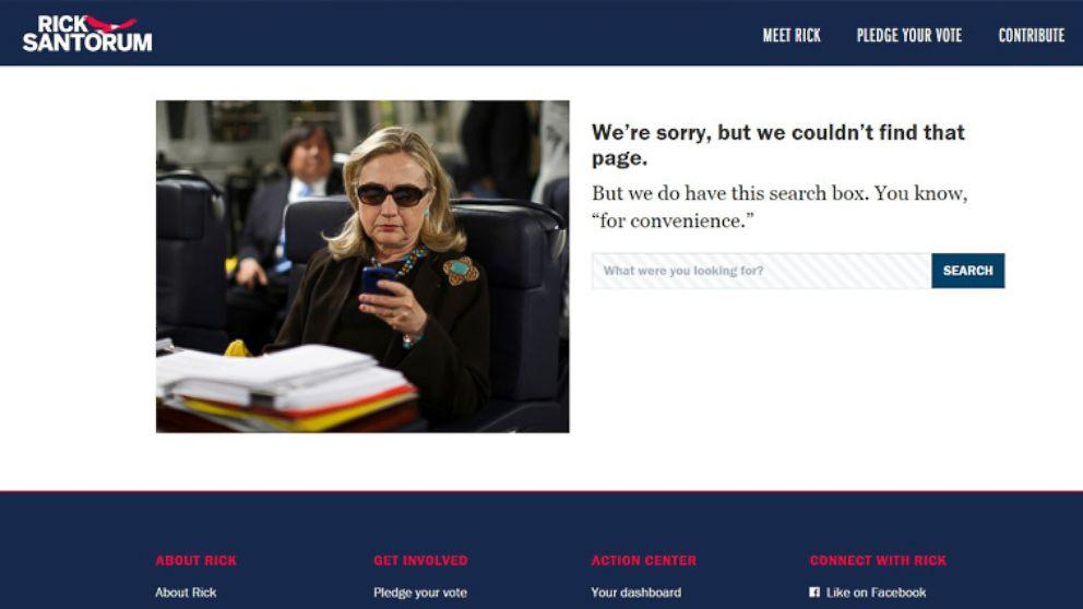 Rick Santorum 404 Page